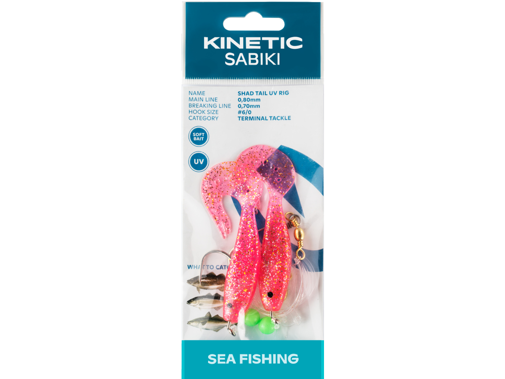 Kinetic Sabiki Shad Tail UV