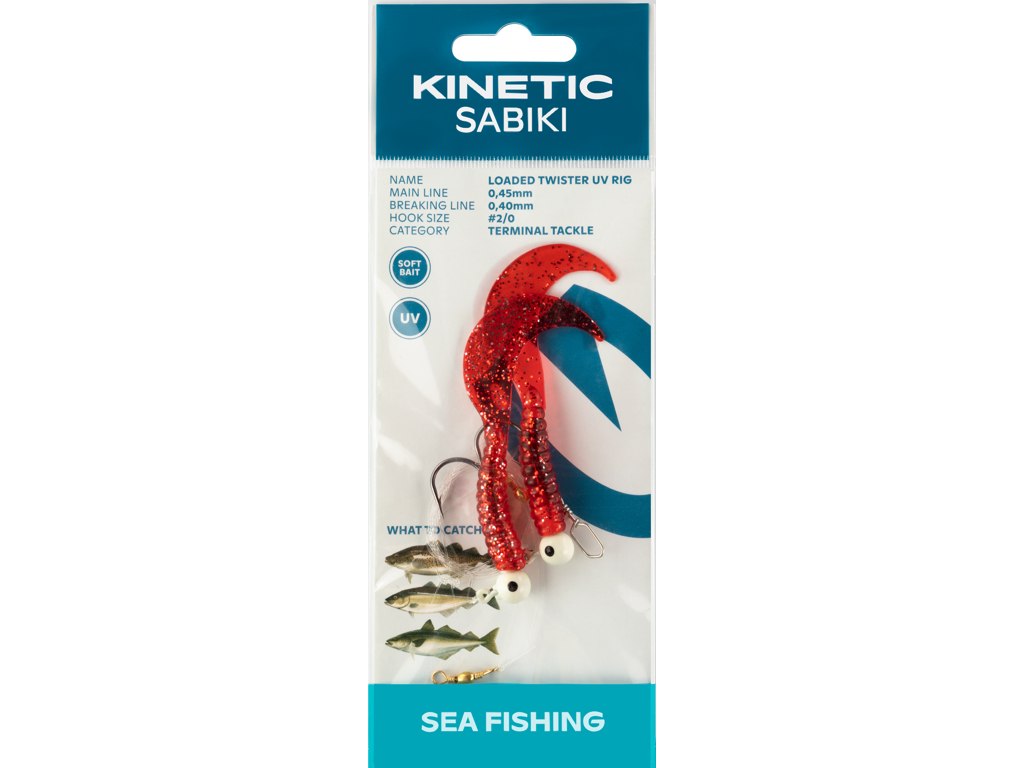 Kinetic Sabiki Loaded Twister UV