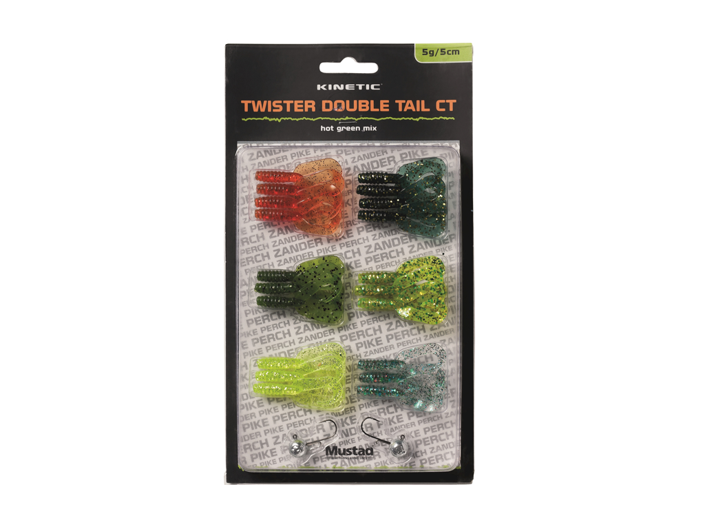 Kinetic Twister Dbl Tail CT - Hot Green Mix
