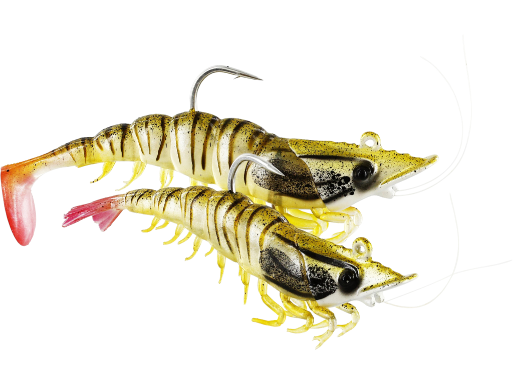Salty the Shrimp Jig 11cm 28g Pearl Shrimp
