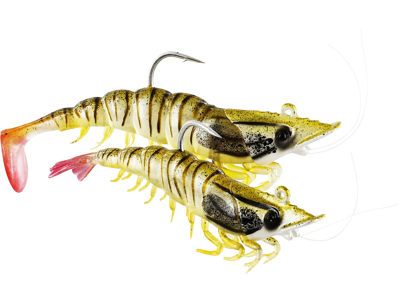 Salty the Shrimp Jig 8cm 18g Glowing Shrimp