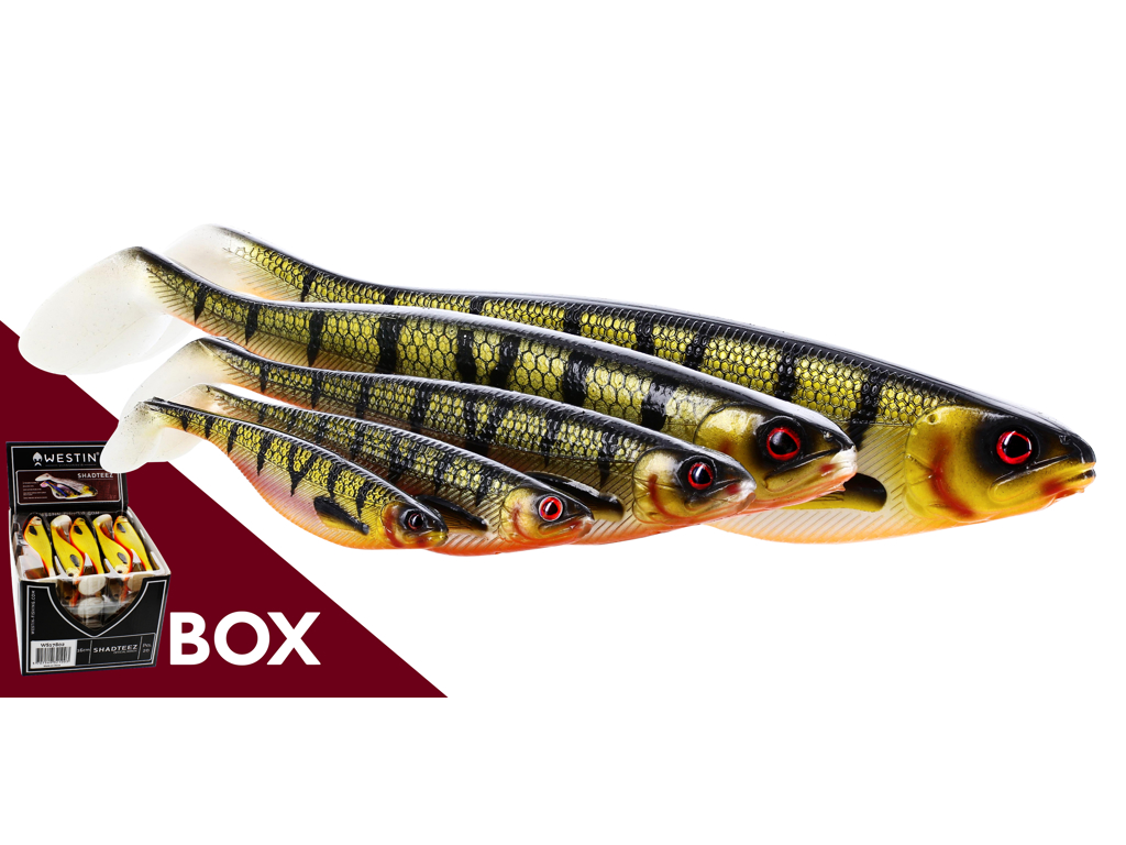 ShadTeez 19cm 56g Natural Pike Box w. 16pcs
