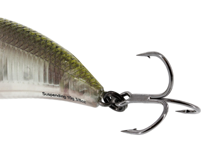 BuzzBite Crankbait 4cm 4g Low Floating Green Ghost