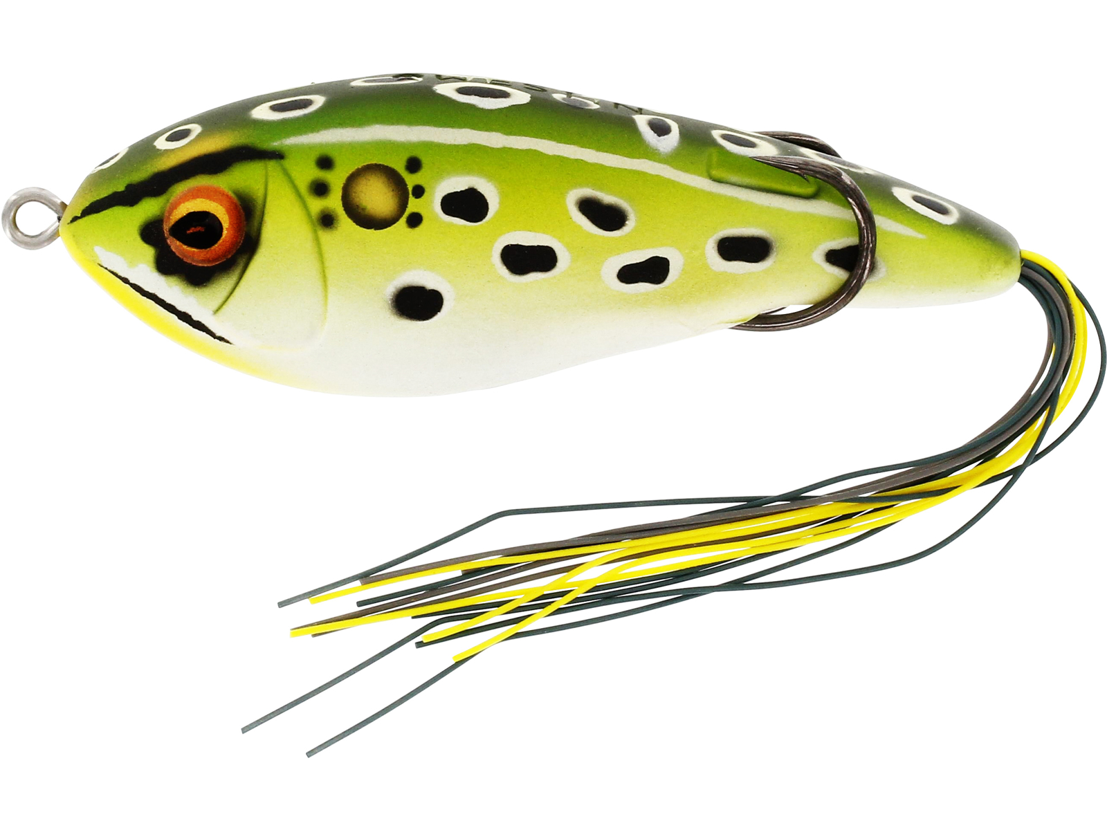Floating Frog Fishing Lure Bass Fishing Lure Weedless Lure Hollowbelly Bass Lure