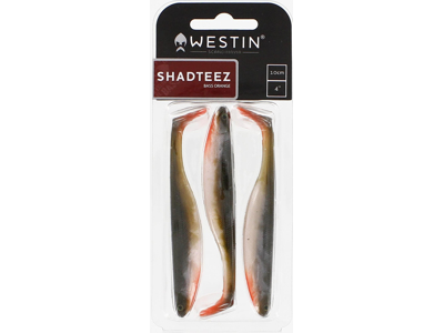 ShadTeez Slim 7,5cm 3g Motoroil Gold 4pcs