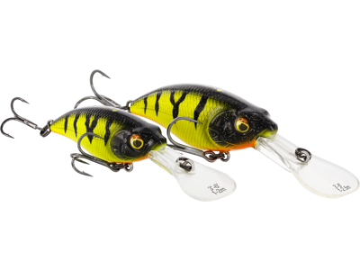 BuzzBite Crankbait 4cm 4g Low Floating Fire Perch