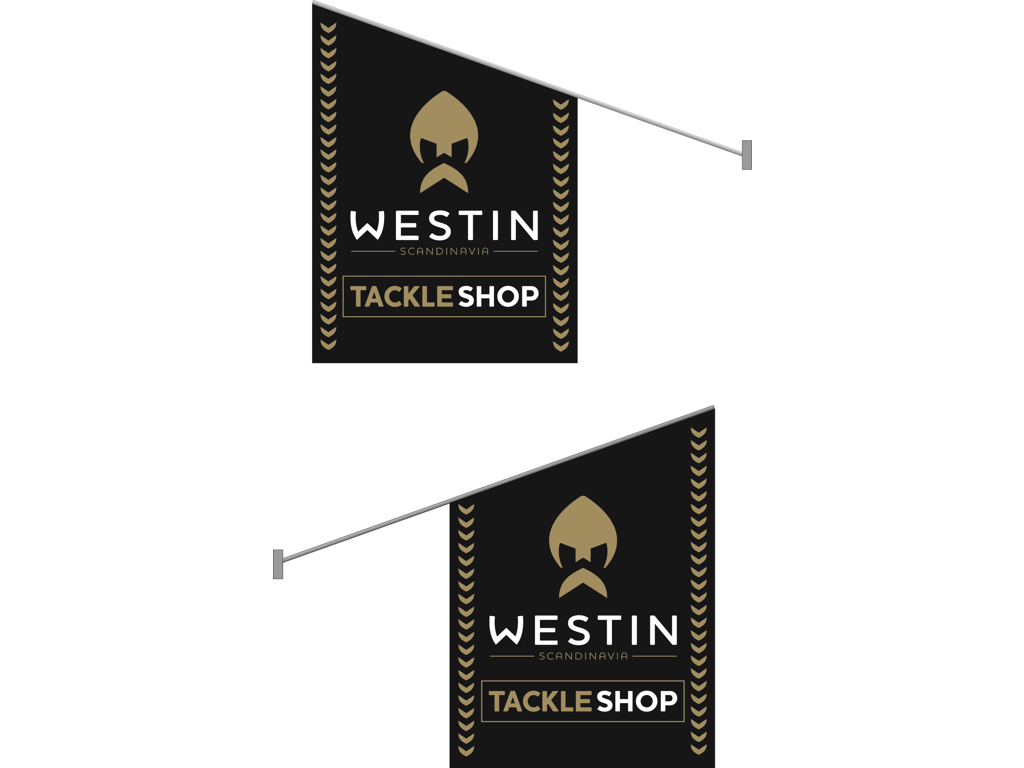 Westin Tackle Shop Flag 60x40cm Lenght: 74cm