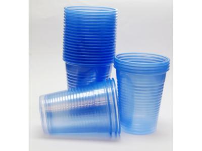 Plastglas blød PS 20 cl blå 100 stk.