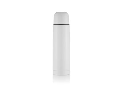 Termoflaske i rustfrit stål, hvid