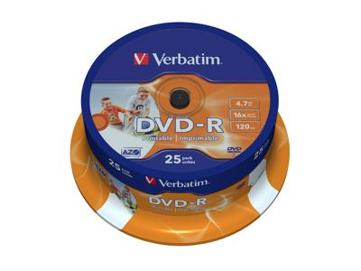 DVD-R 4,7 GB Verbatim  25 STK.