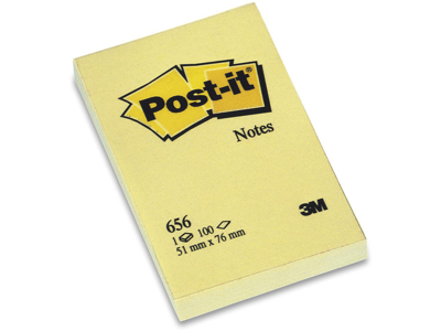 Post it 51x76mm gul  12 Blokke