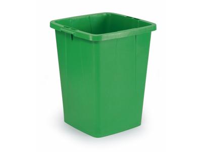 Affaldspand Durabin 90L. grøn firkantet