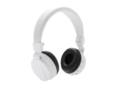 Sammenfoldelig trådløs hovedtelefon, hvid