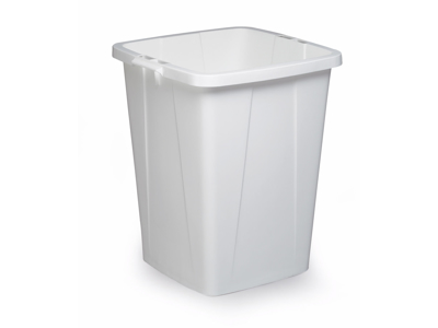 Affaldspand Durabin 90L. hvid firkantet