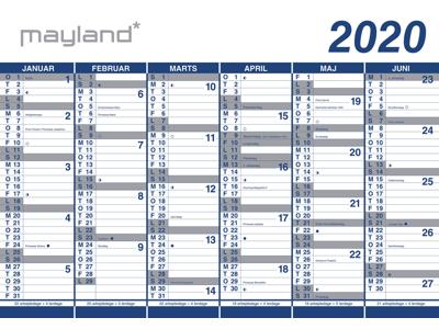 Kæmpekalender, dobb.sid., PP-plast, rør 20065400