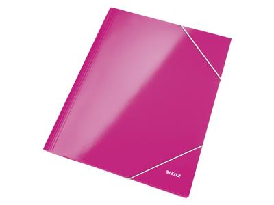 Elastikmappe A4 karton pink Leitz WOW