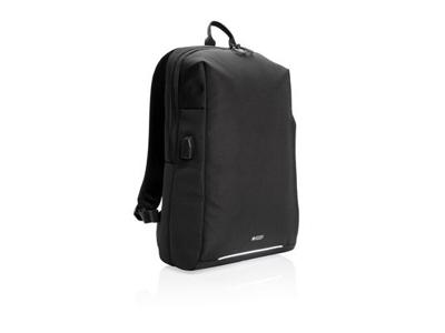 Swiss Peak PVC fri rygsæk med RFID og USB, sort
