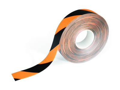 Tape advarsel Duraline strong 50mm x 30 meter gul/sort