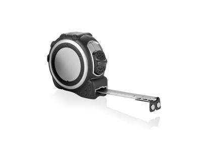 Målebånd med gummibelaget kabinet - 5m/19mm, sølvfarvede