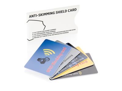 Anti skimming kort, hvid