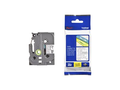 Brother tape TZe-145 hvid/klar