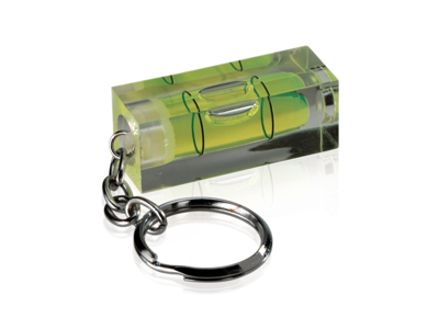 Libelle vaterpas med nøglering, grøn