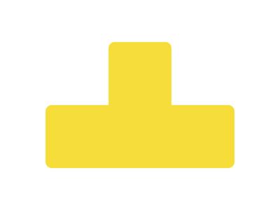 Gulvmærker T form gul