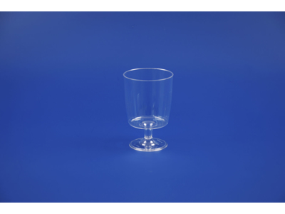 Plastglas hård PS på fod 15 cl 10 stk