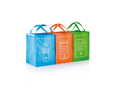 3 stk. genbrugs affalds poser, grøn