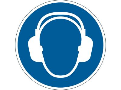 Advarselsklistermærke Anvend hørebeskyttelse