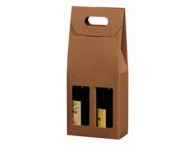 Vinæske brun åben bølge til 2 flasker 20 stk