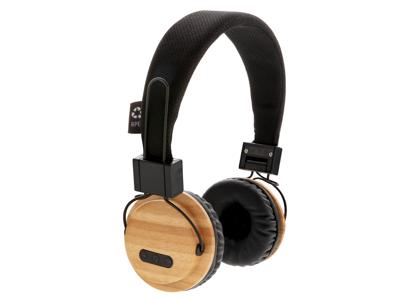 Bamboo trådløs hovedtelefon, brun