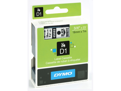 DYMO TAPE SORT/HVID 19MM 45803