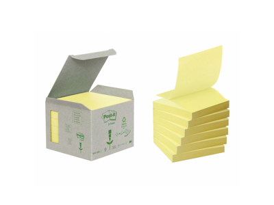 Post it Z 76x76mm gul miljø 6 blokke