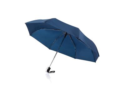 """Deluxe 21 5"""" 2-i-1 paraply med automatisk åbning/lukning, bl"""
