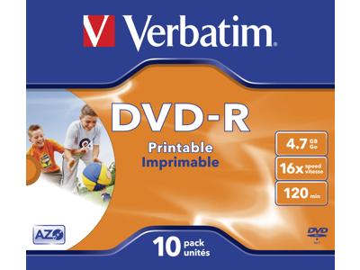 DVD-R 4,7 GB Verbatim  10 STK.