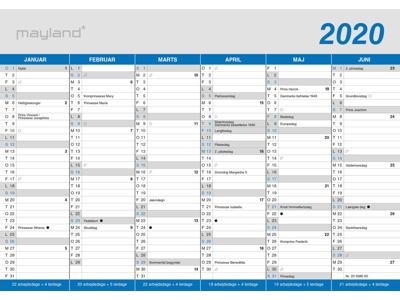 A5 kontorkalender, klassisk, FSC Mix 20058000