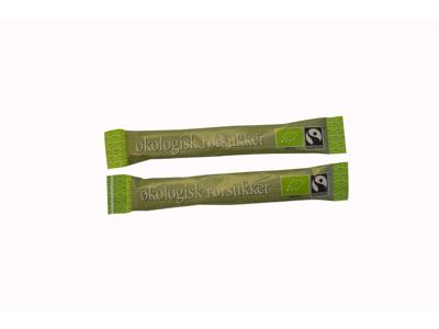 Rørsukker Økologisk fairtrade 3 gram 1000 stk
