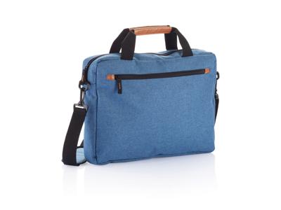 Fashion duo tone computertaske, blå