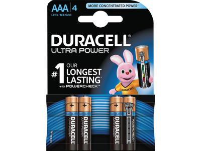 BATTERI Ultra Power AAA 4 STK.