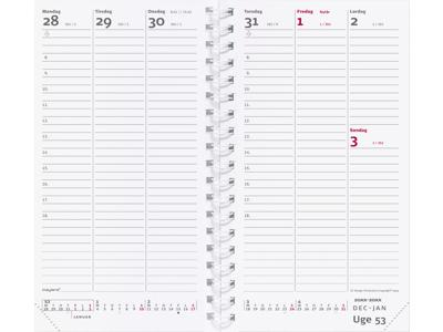 Week Planner, uge, højformat, REFILL, FSC Mix 20088500