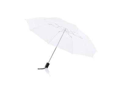 "Deluxe sammenfoldelig paraply 20"", hvid"
