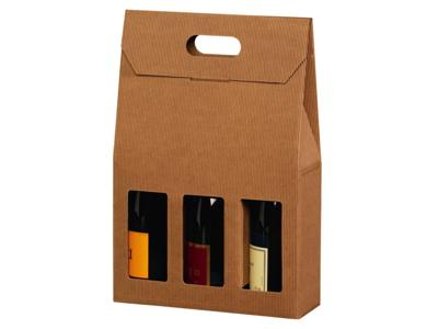 Vinæske brun åben bølge til 3 flasker 20 stk