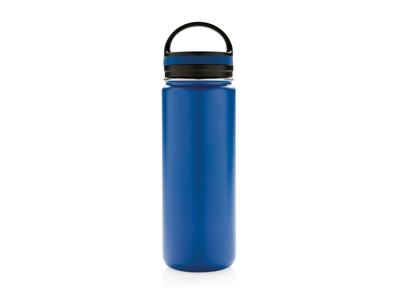 Tætsluttende termoflaske med bred åbning, blå
