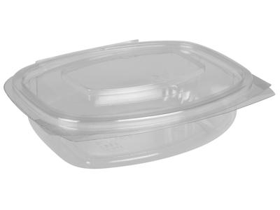 Salatbæger m/hængslet låg oval 375ml