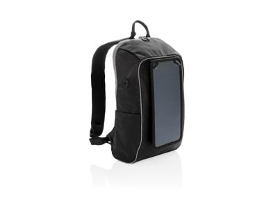 Vandre rygsæk med solcelle panel PVC fri, sort