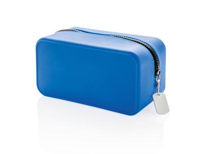 Leakproof toilettaske i silikone, blå