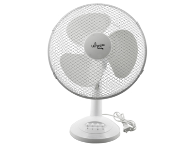 Ventilator Bord Ø 23 cm Hvid