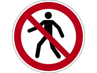 Advarselsklistermærke Forbudt for gående
