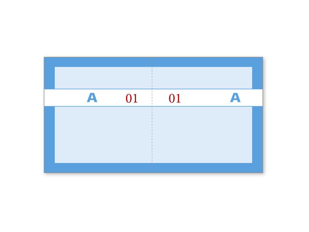 Kuponbog Blå 2x100 blade